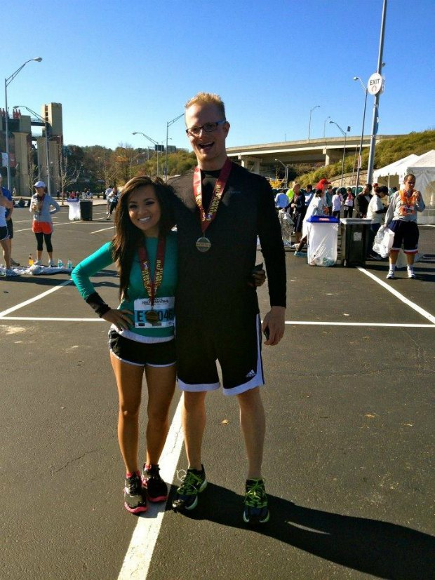 Me and Mikey after the race.