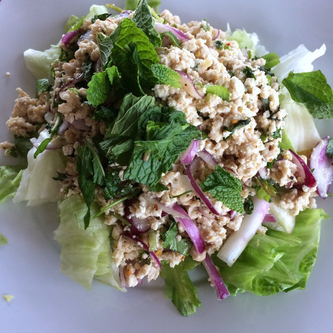 Chicken Larb - Bangkok House Restaurant