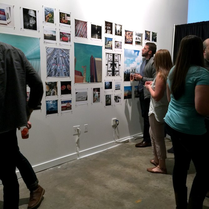 Closing event of the pop-up gallery.