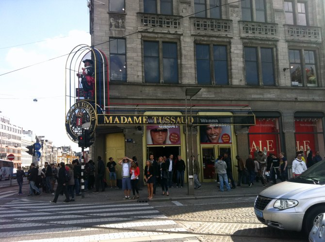 Entrance of Madame Tussaud.