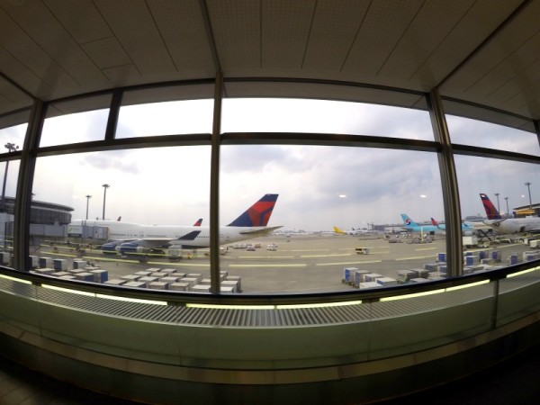 Such a beautiful view of the planes parked in the Narita airport.
