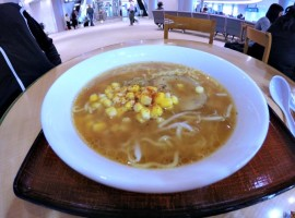 Ramen while waiting for our flight to Bangkok at the Narita Airport.